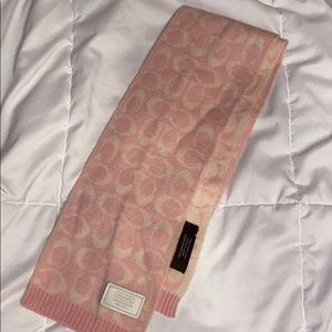 Coach Pink & Cream Scarf